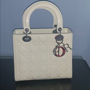 Dior great condition white lady bag